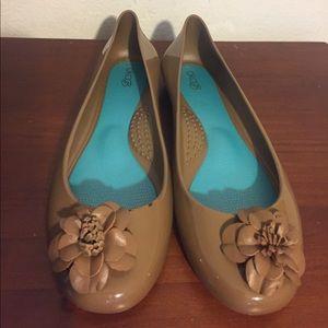 OKA b Ballet Jelly Taylor Rubber Flower Tip Flats